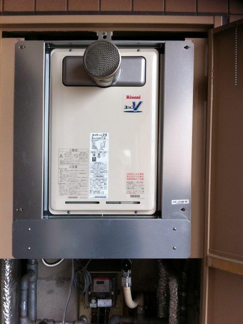 給湯器の入れ替え設置後
